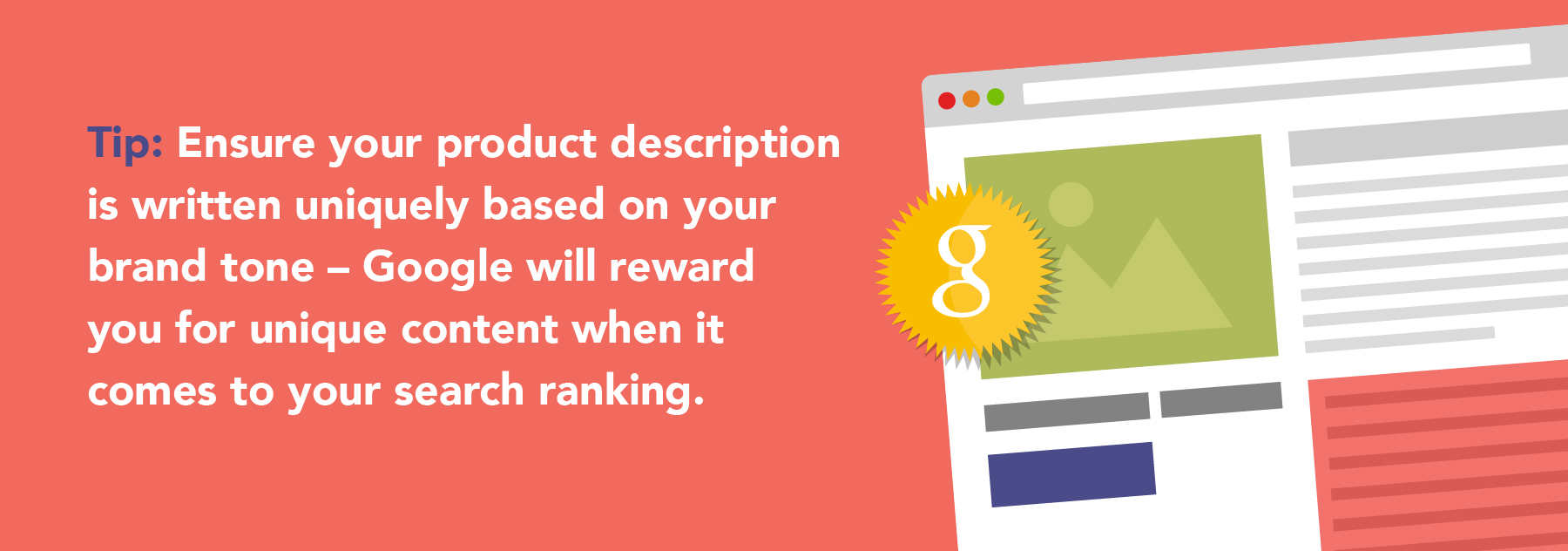 Product page awarded with google badge